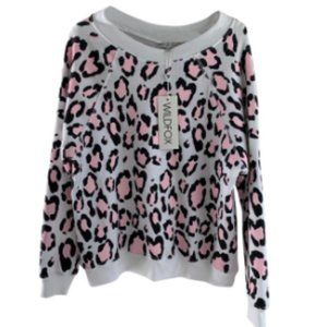Wildfox sweatshirt White, Pink and Black Cheetah